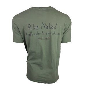 Bike Naked Colorado Olive Green S/S Graphic Tee L